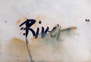 Wasser, Fluss, Tusche, experimentell