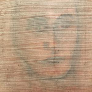 Contemporary Art, Porträt, Marmorstein, Zinnoberrot, Pigmente