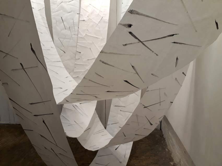 London Galerie Zeichnung Installation