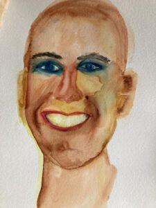Porträts, Aquarell auf Papier,Menschen