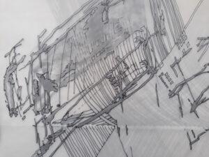 Contemporary drawing Linienscharen Stuttgart
