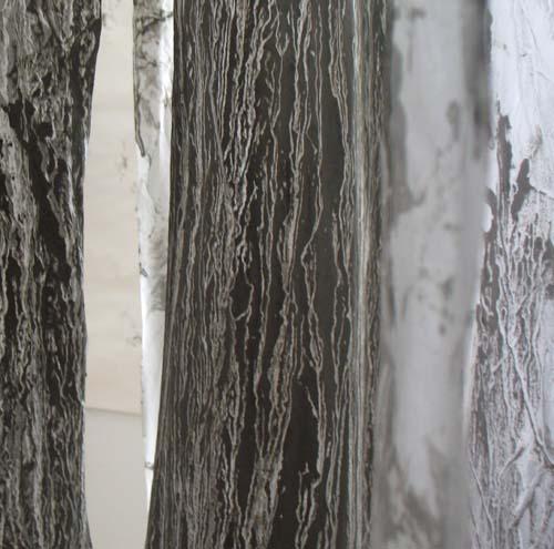 Installation spaced Ölschiefer Gestein Papier